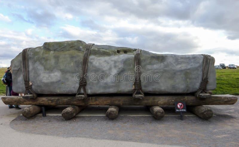 Stonehenge voorhistorisch monument, Tentoonstelling - Stonehenge, Salisbury, Engeland royalty-vrije stock foto's