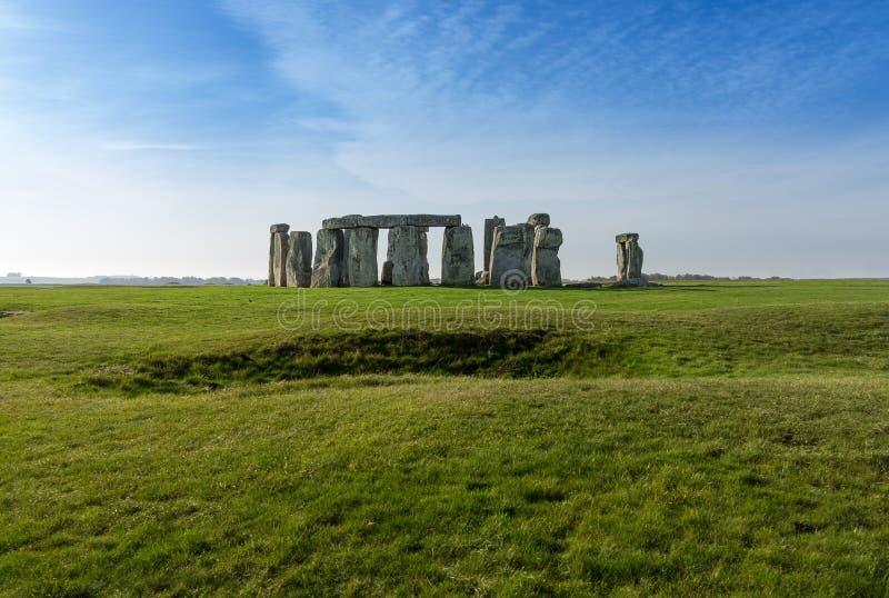 Stonehenge in Wiltshire het UK stock foto's