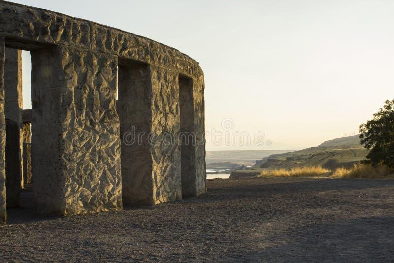 Stonehenge WWI minnesmärke, Washington arkivfoto