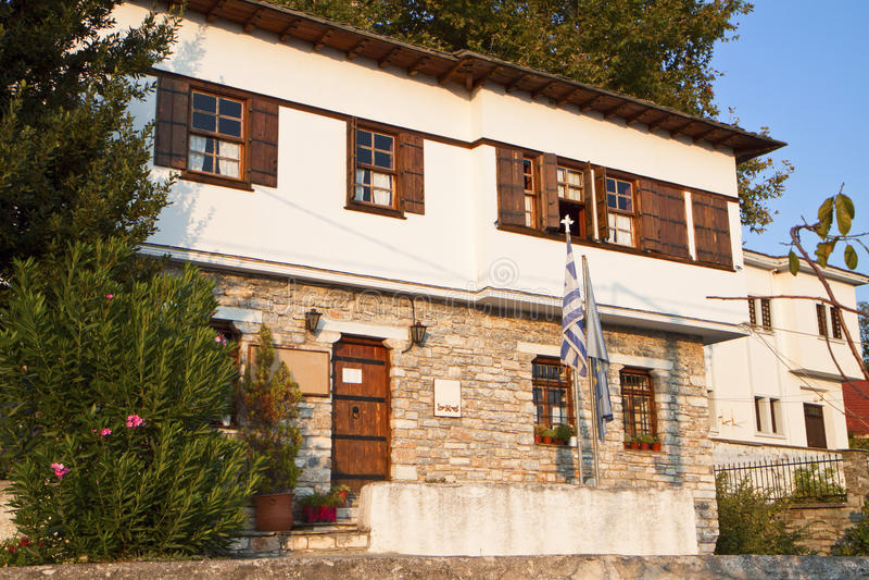 Stonemade Greek Traditional House Stock Photo