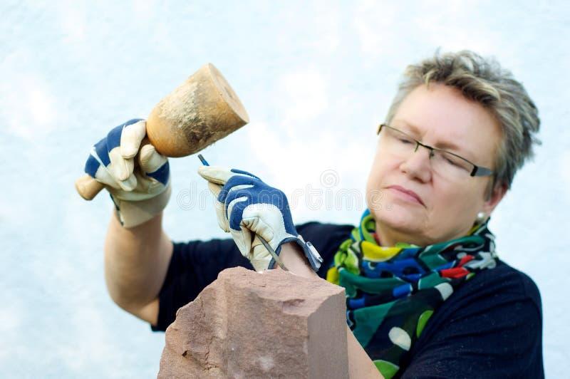Download Stonemason In The Garden Stock Image - Image: 37852581
