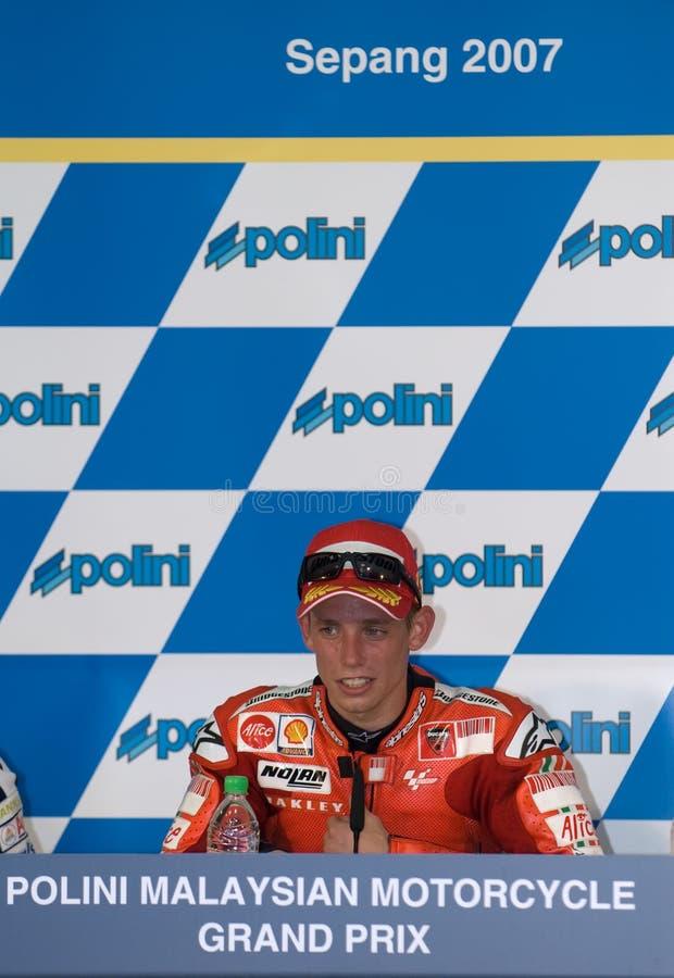 Stoner australiano de Casey do vencedor de Ducati Marlboro imagens de stock royalty free