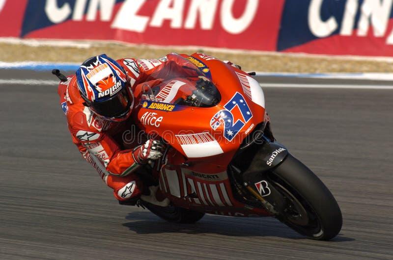 Stoner-Ducati de Casey fotos de stock royalty free