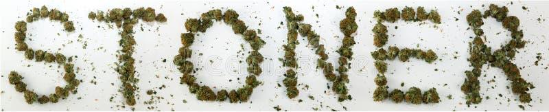 Stoner Spelled With Marijuana royalty free stock photo