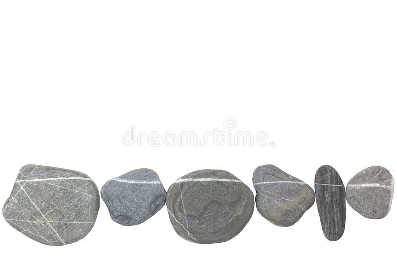Download Stones as a line on white stock photo. Image of quiet - 83707726