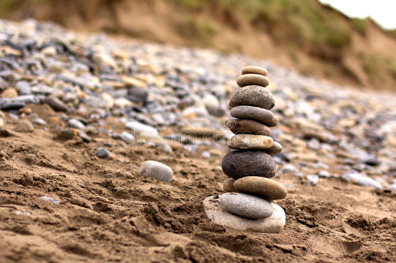 Stones balance. Concept of balance and harmony stock images