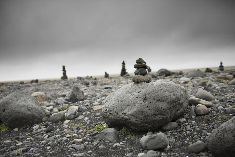 Stones in balance on top each other royalty free stock photography