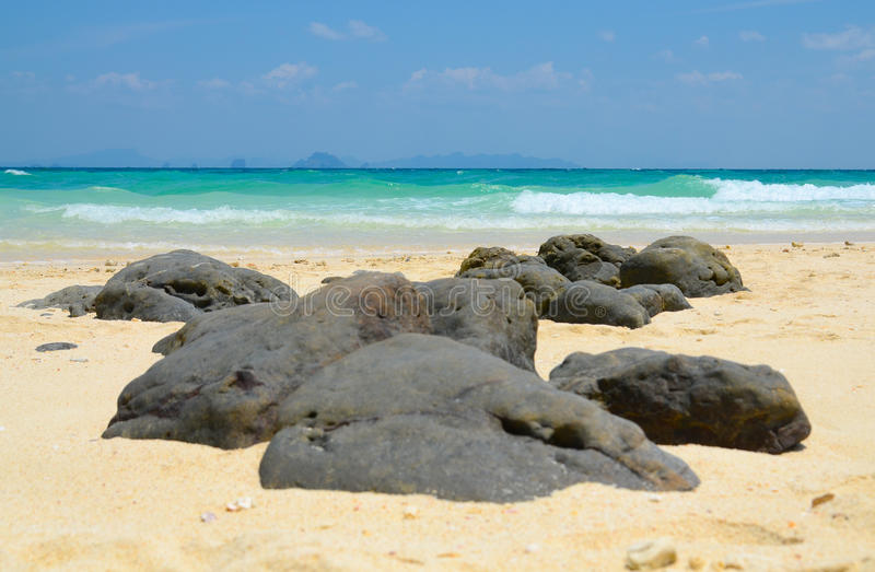 Stones of the Bamboo island, Thailand stock image