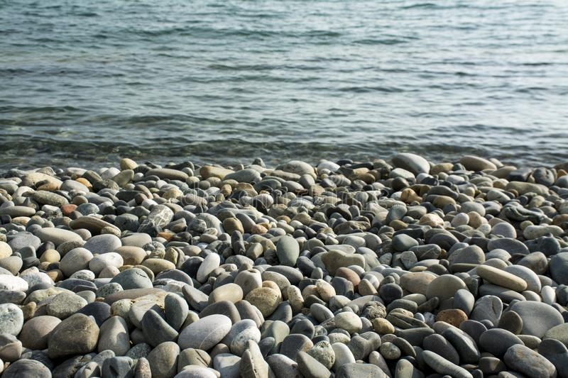 Stones on a beach stock photography