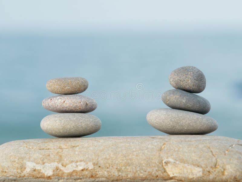 Stones on the beach stock image