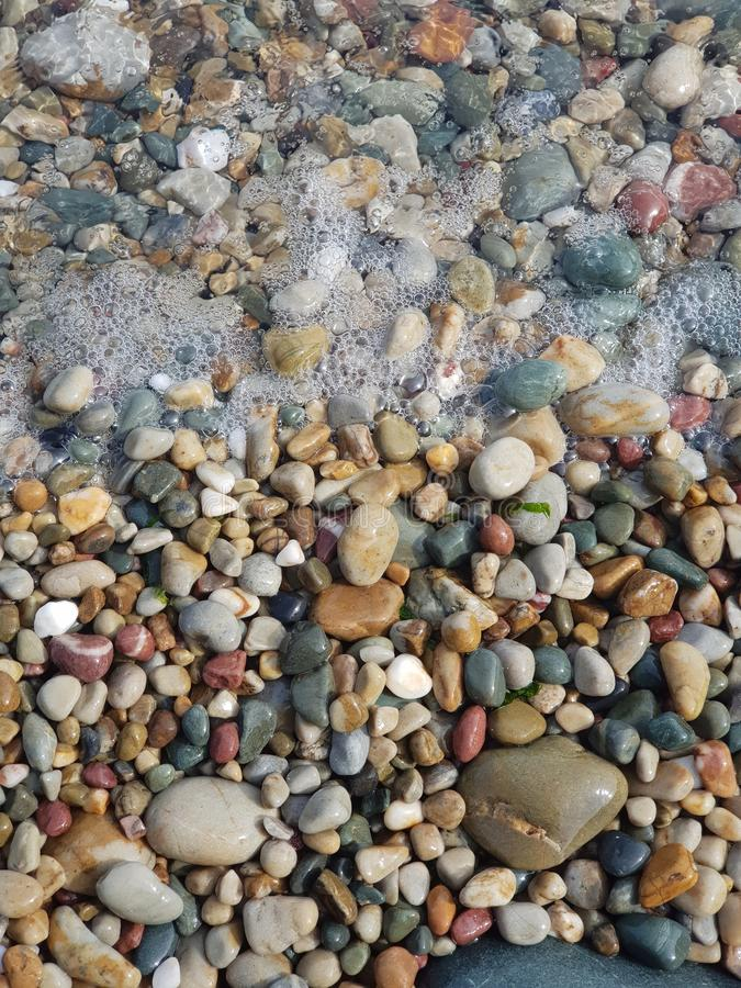 Stones closeup in different colors stock photography