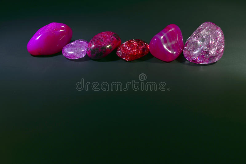 Stones, colored crystals. stock photos