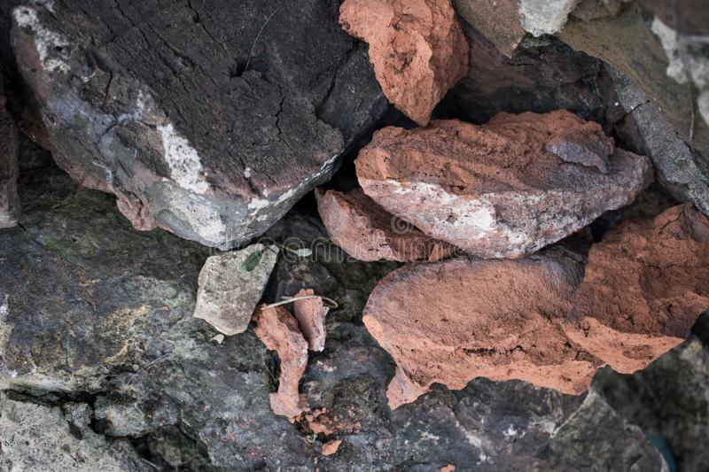 Stones of different colors and shapes close-up royalty free stock photo