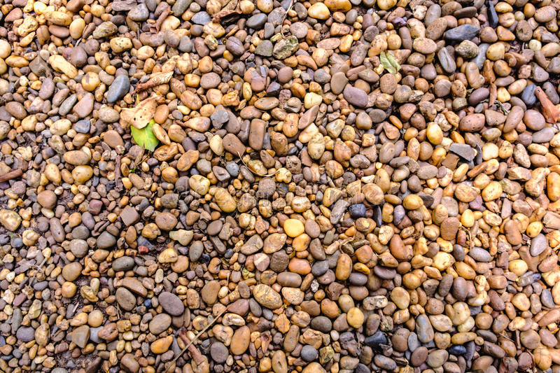 Stones of different sizes on the ground. Suitable for a background. royalty free stock photography