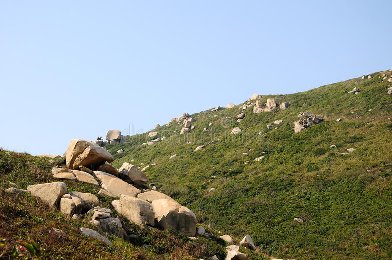 The stones in Dongao Island stock image