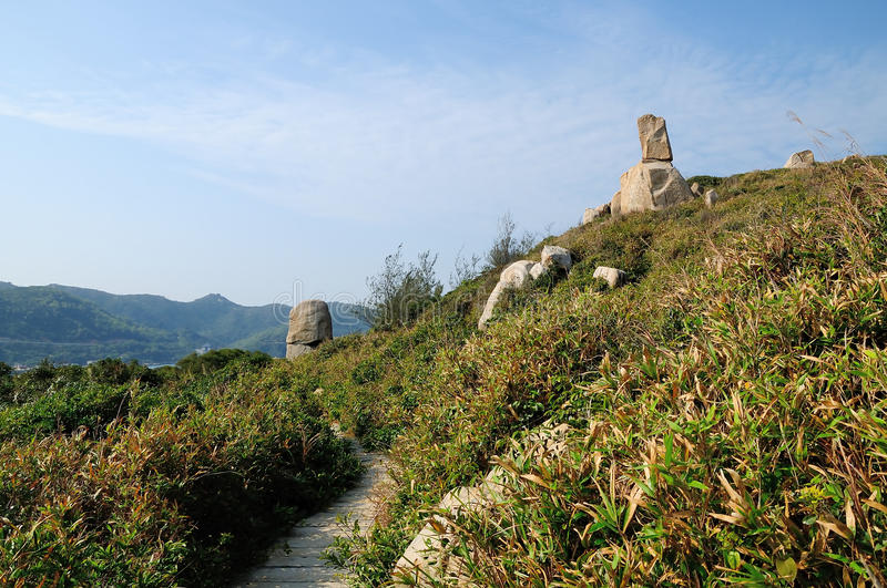 The stones in Dongao Island stock photos