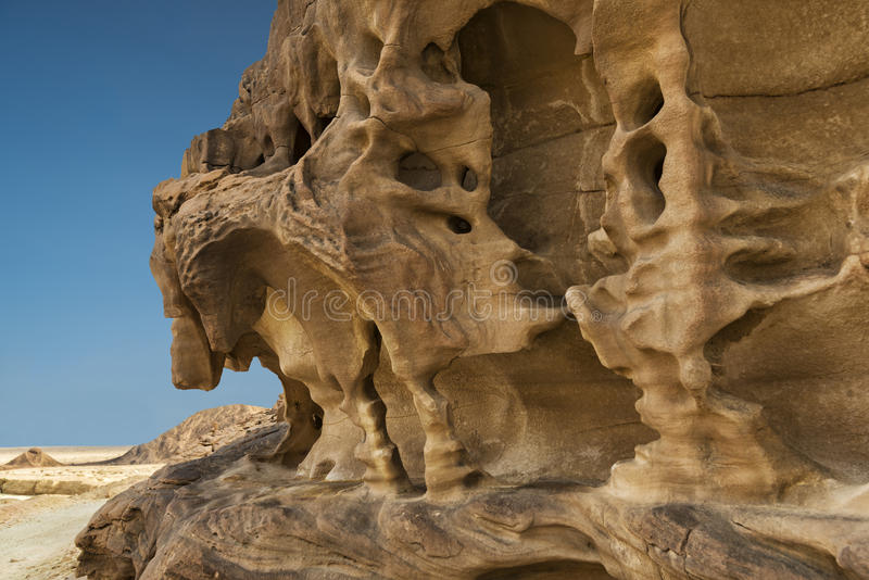 Stones of Eilat's mountains, Israel stock images