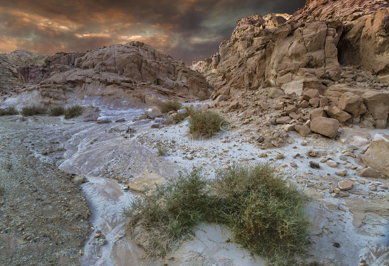 Stones of Eilat's mountains, Israel royalty free stock images
