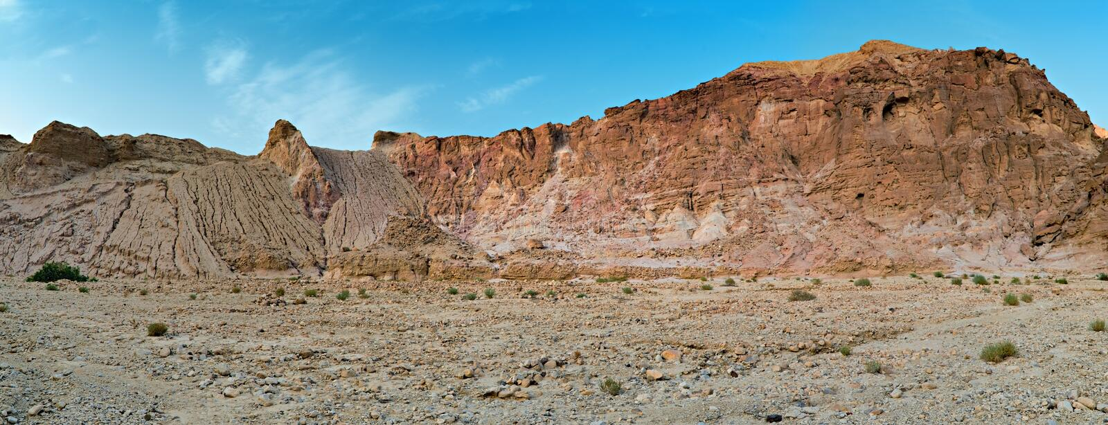 Stones of Eilat's mountains, Israel royalty free stock photography