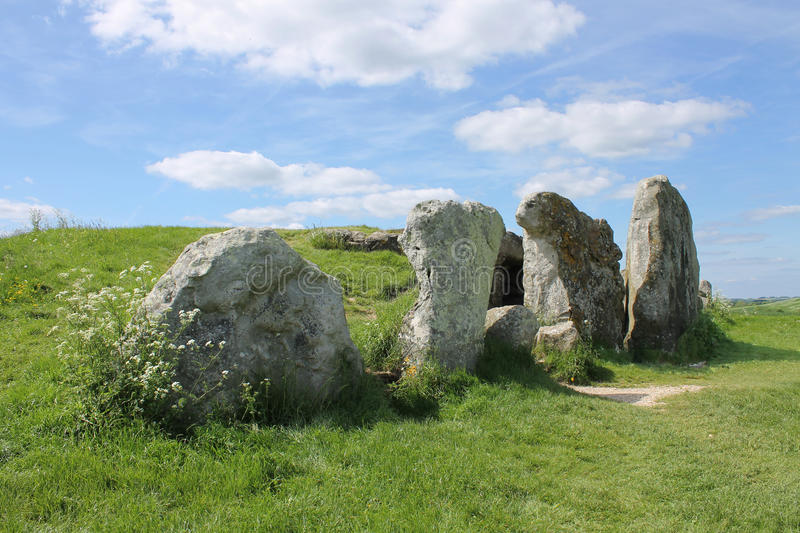 Stones at entrance to West Kennet Long Barrow royalty free stock image