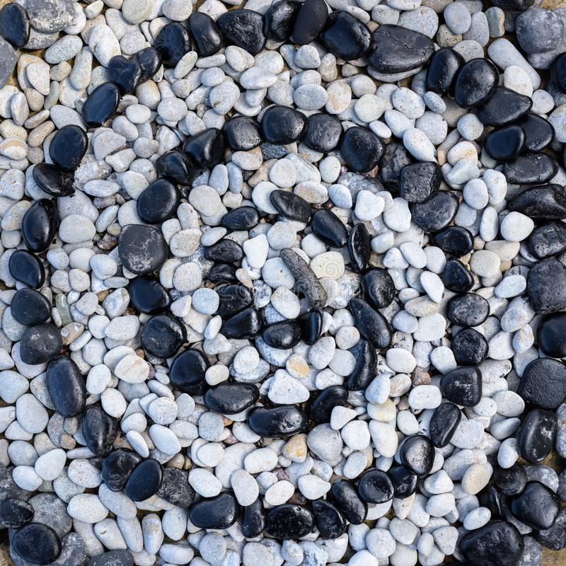 Stones in form of spiral stock photos
