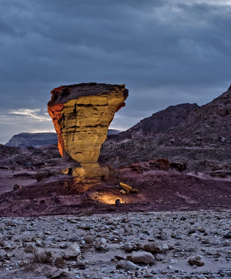 Stones of Geological Park Timna stock photos