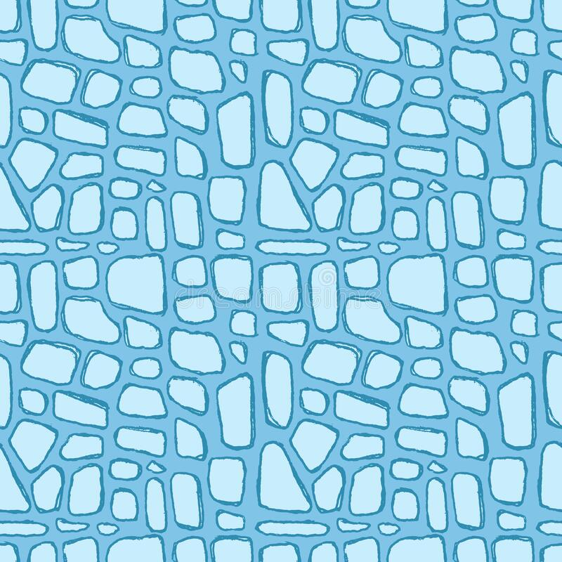 Stones handdrawn seamless blue pattern. Vector illustration. Stones handdrawn seamless blue pattern. Vector illustration royalty free illustration