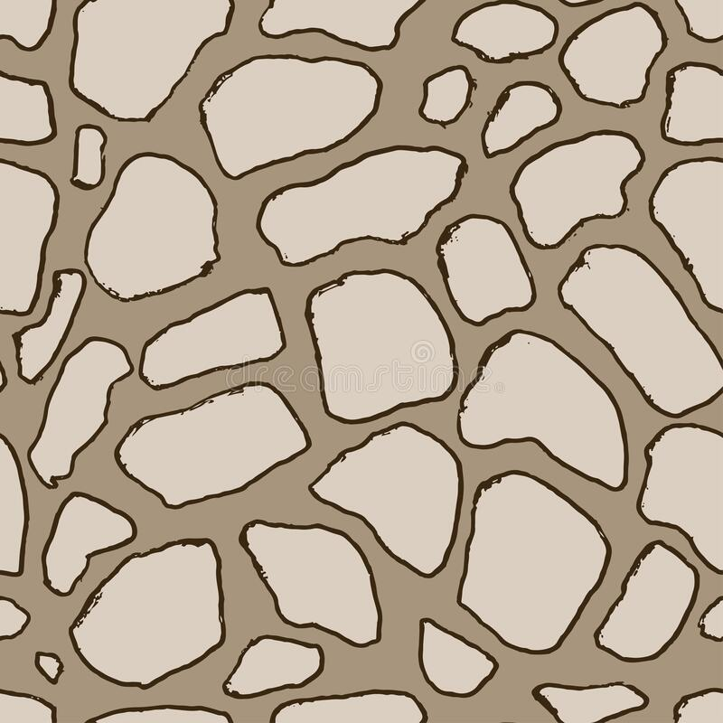 Stones handdrawn seamless brown pattern. Vector illustration. Stones handdrawn seamless brown pattern. Vector illustration vector illustration