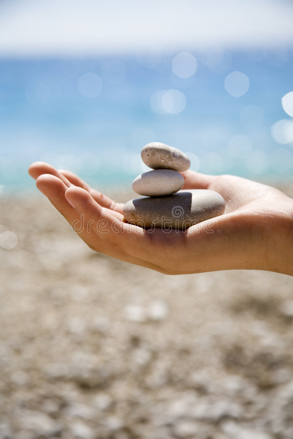 Free Stones In The Hand Royalty Free Stock Photography - 973527