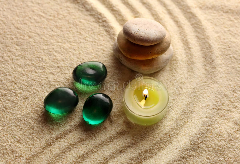 Download Stones and light candle stock photo. Image of japanese - 17946500