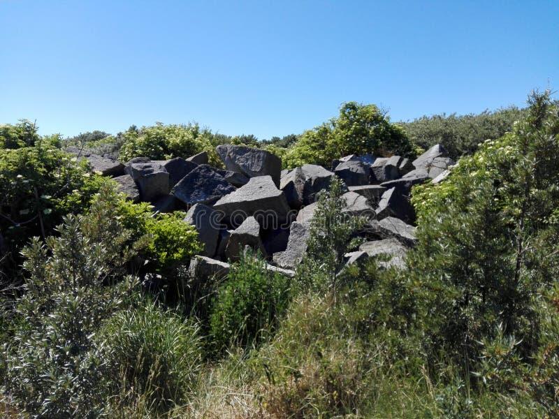 Stones on a mountain royalty free stock photo