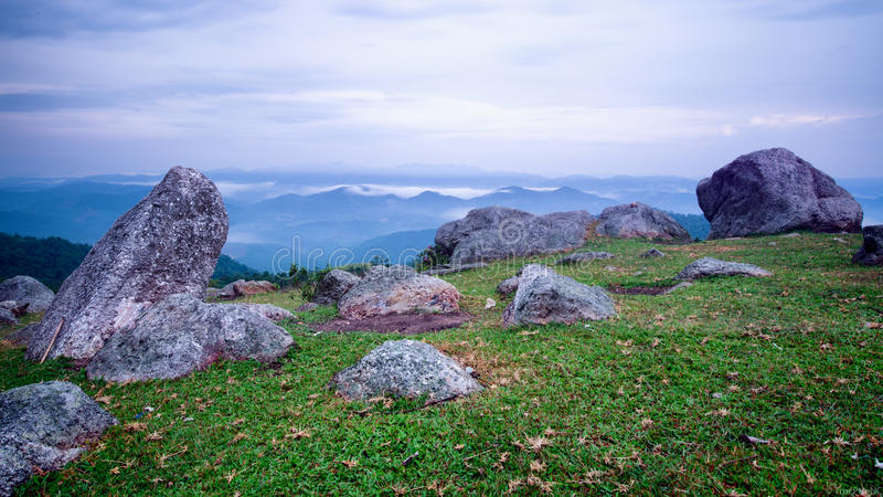 Stones on Mountains. In Bac Giang, Vietnam royalty free stock image