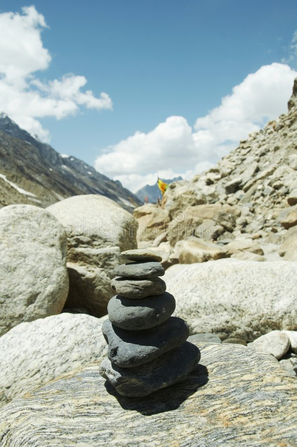 Stones on path in mountain royalty free stock images