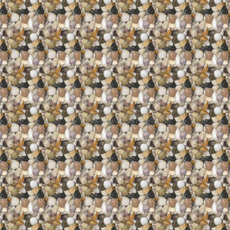 Stones pattern. Geometrical small stones pattern and background in beige, light green and white hues royalty free stock images