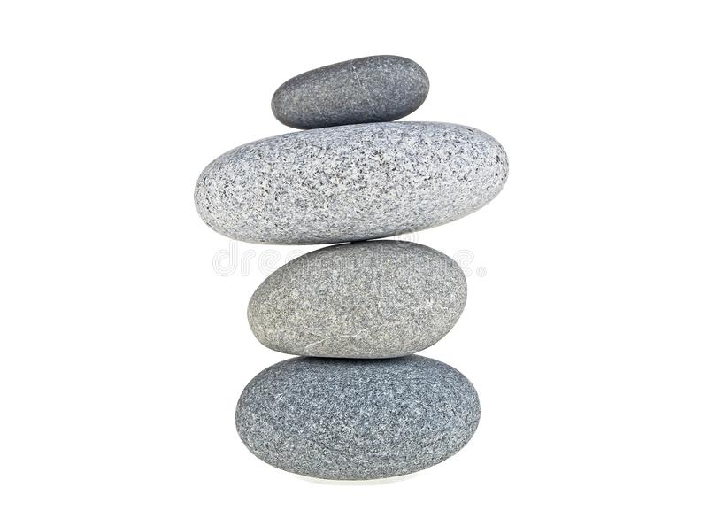 Stones pyramid isolated on a white background, SPA stones stock photos
