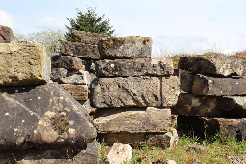 Tiny stone henge stock image