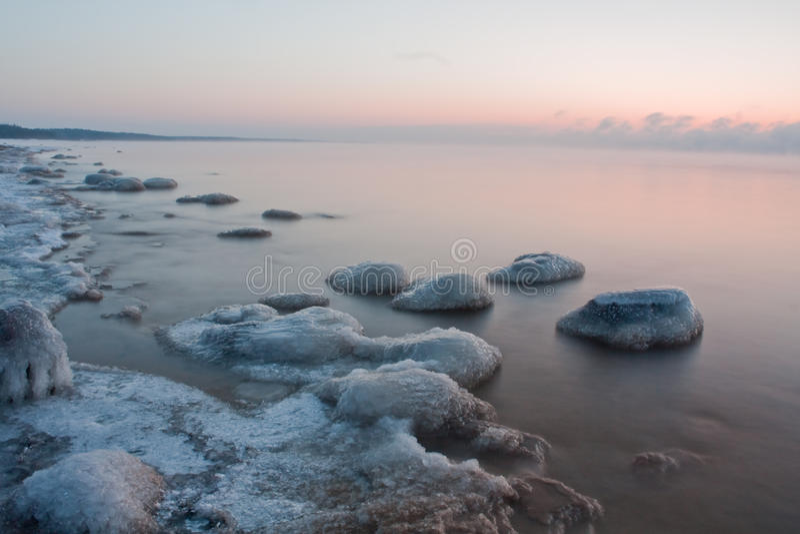 Download Stones in sea stock photo. Image of baltic, january, scene - 13533590