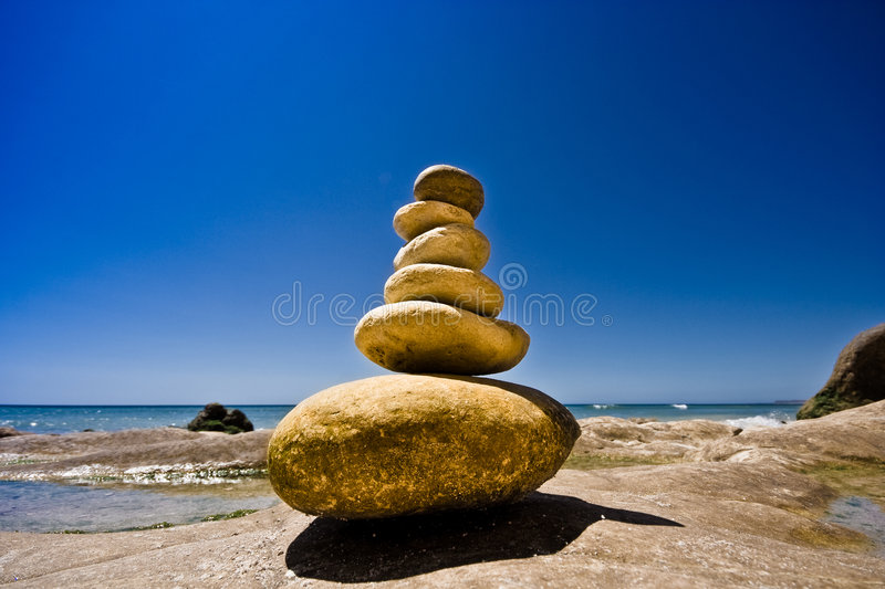 Stones at sea royalty free stock photo