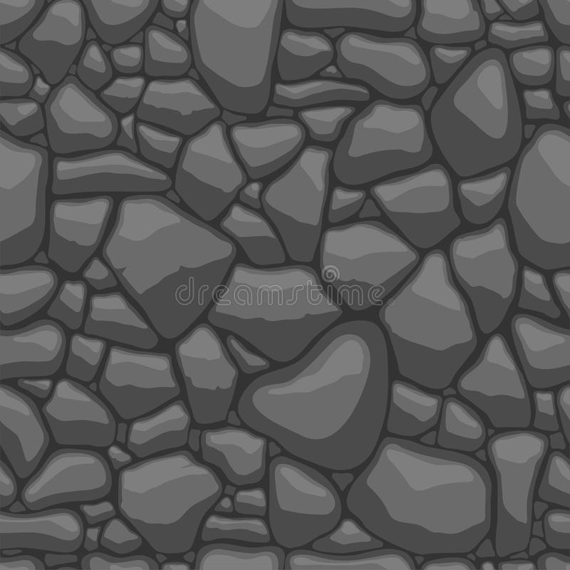 Download Stones seamless pattern stock vector. Image of gray, tile - 29518219