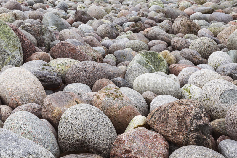 The stones on the seashore. Day royalty free stock photography