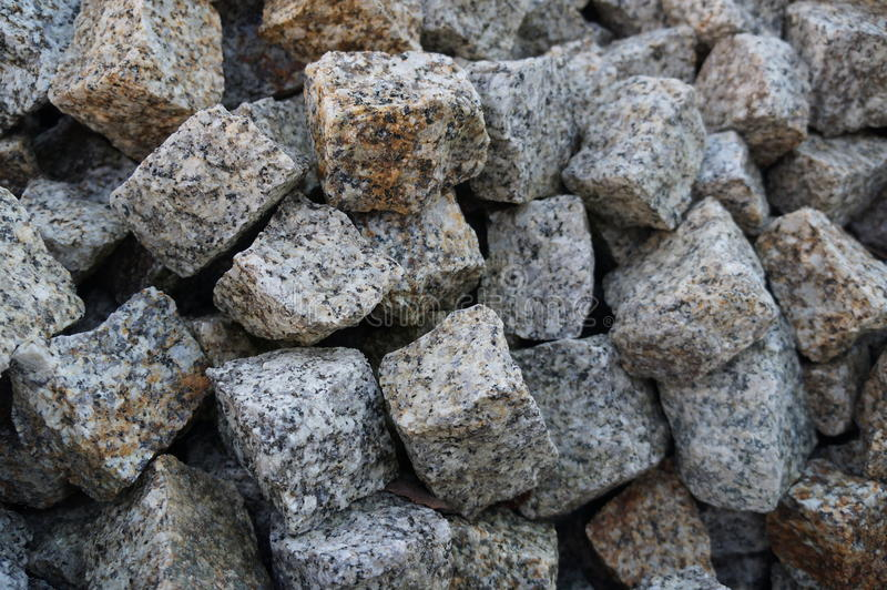 Stones sett. For road, pavement, driveway, garden decoration royalty free stock images