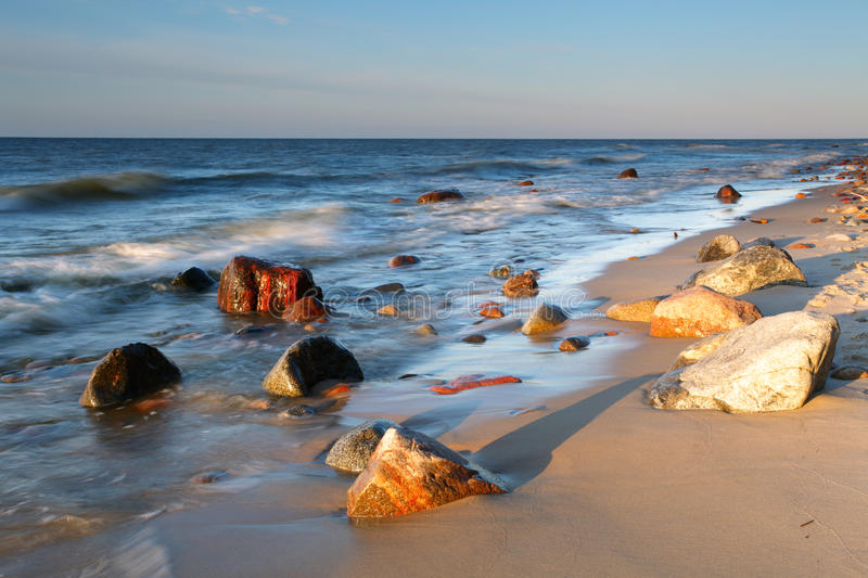 Stones On Shore Of The Baltic Sea. Royalty Free Stock Photos