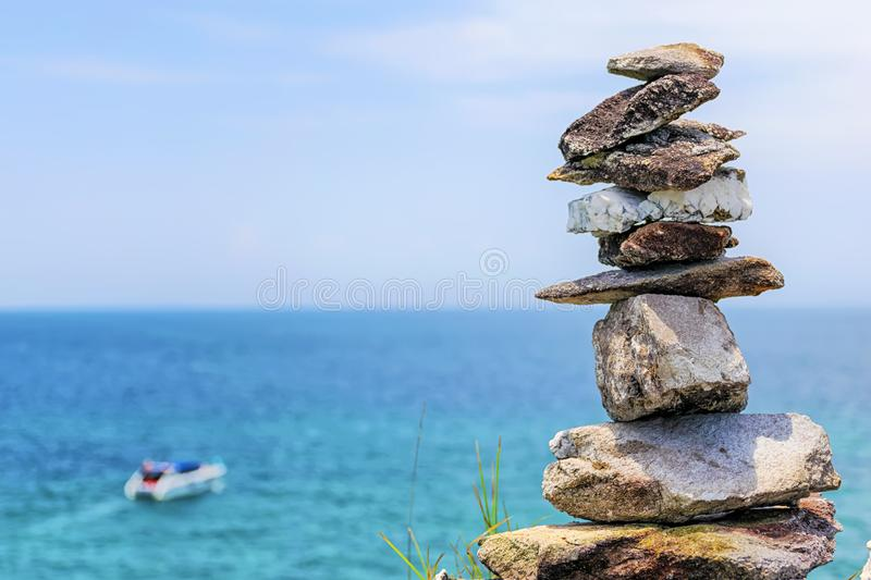 The stones are stacked together,With balance. royalty free stock photos