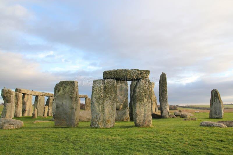 the stones of Stonehenge, England stock image