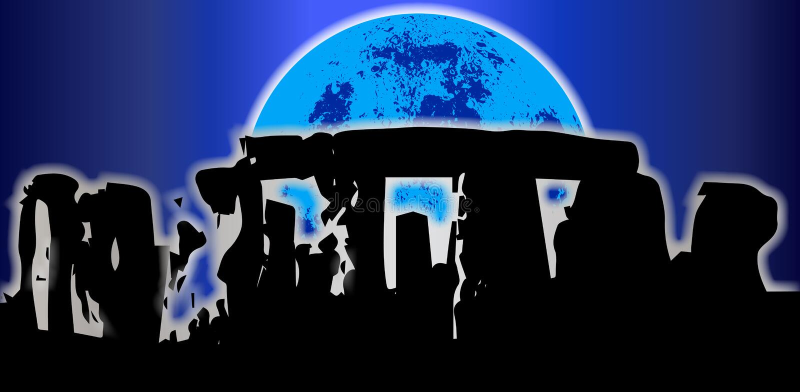 Stonehenge Solstice Backdrop royalty free illustration