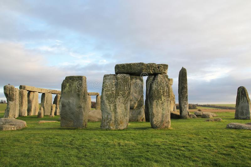 the stones of Stonehenge, a prehistoric monument in Wiltshire, E royalty free stock photos