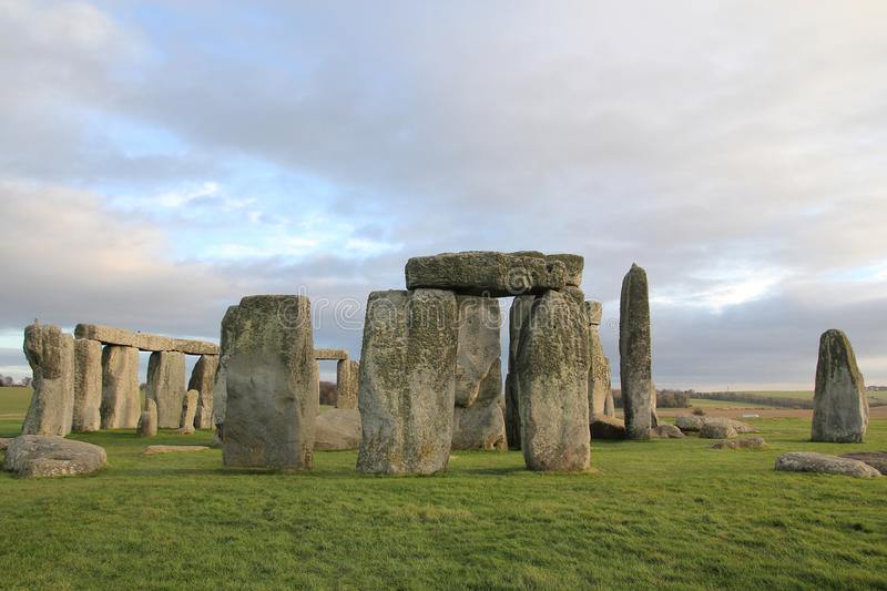 the stones of Stonehenge, a prehistoric monument in Wiltshire, E stock photo