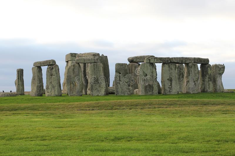the stones of Stonehenge, a prehistoric monument in Wiltshire, E stock images