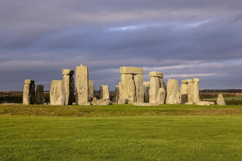 the stones of Stonehenge, a prehistoric monument in Wiltshire, England. UNESCO World Heritage stock images