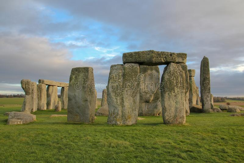 The stones of Stonehenge, a prehistoric monument in Wiltshire, England. UNESCO World Heritage Sites. stock images